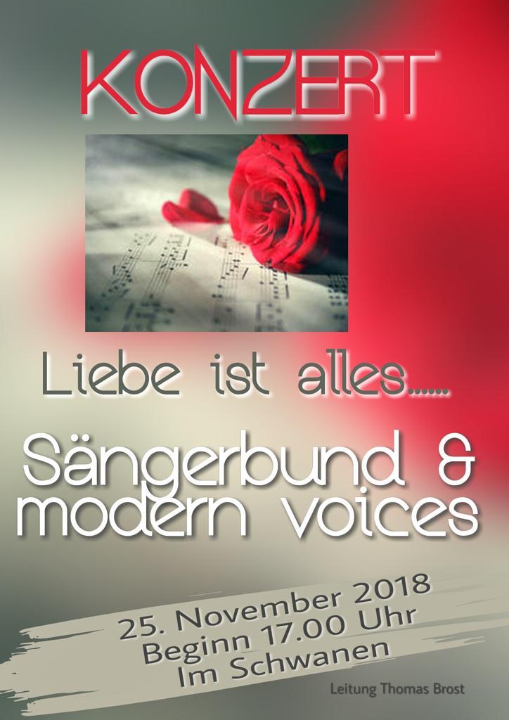 Plakat für das Konzert am 25.11.2018